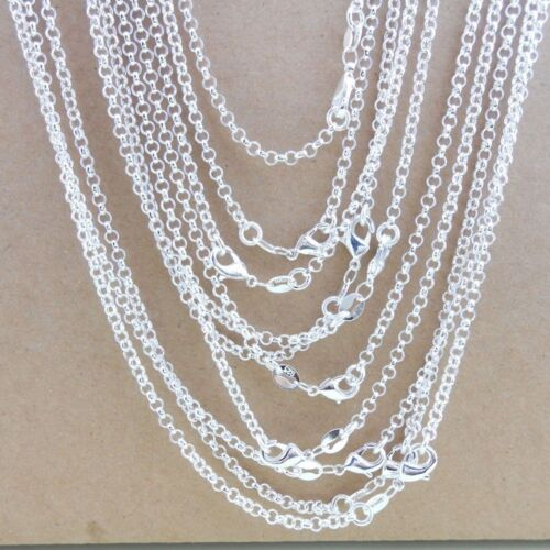 """Bulk 925 Sterling Silver """"O"""" Chain Necklace 2.5mm Jewelry fi"""