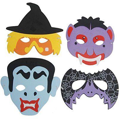 - 4 x Halloween Masken | Schaumstoff Masken | für Kinder  (Masken Für Halloween Für Kinder)