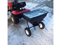 SALT SPREADER , TOW BEHIND 56KG CAPACITY , IDEAL FOR CAR PARKS , DRIVEWAYS ETC , BALLYNAHINCH