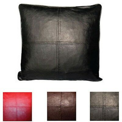 Throw Pillows Faux Leather : Faux Leather Decorative Feather and Down Fill Throw Pillows (Set of 2) eBay