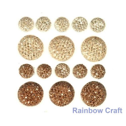 kaisercraft Bling Sparklets / Self Adhesive Rhinestones crystal ebony hearts - Cameo