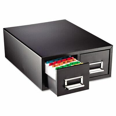 Card Cabinet File 2-drawer 3000 Card Cap 5x8 Black Mmf263f5816dbla