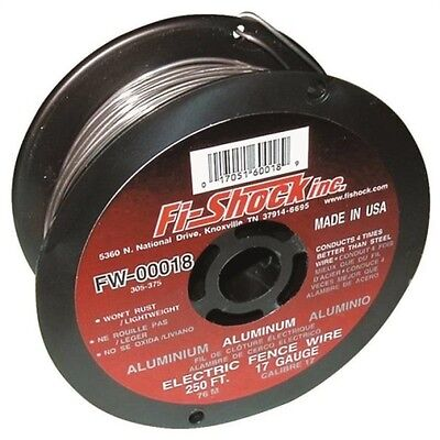 Fi-shock Fw-00018d Electric Fence Wire 17 Ga Wire 250 Ft L Aluminum