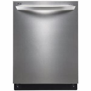 """LG LDF7551ST 24"""" FULLY INTEGRATED DISHWASHER WITH FLEXIBLE EASYRACK™ PLUS SYSTEM"""