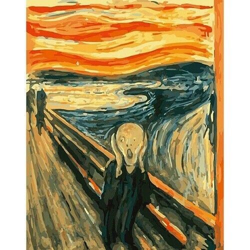 The Scream Paint by Numbers Kit - DIY - USA Seller - FAST FREE SHIPPING!!