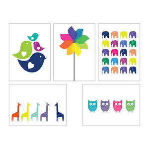 5 IKEA KORT ART CARDS PICTURES ABSTRACT ANIMALS OWLS & FLOWER NEW DESIGNBNIP