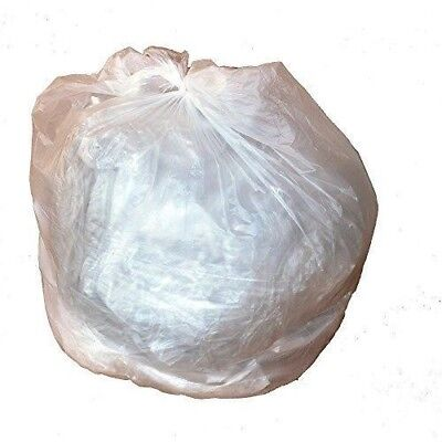 - PlasticMill 4 Gallon, High Density, Clear, 17x18, Garbage Bags / Trash Can Liner