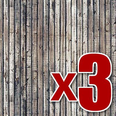 Verwitterte Holz Planken (Busch 7420) 3x2 Realistisches Oo / Ho Dekor Blätter F1