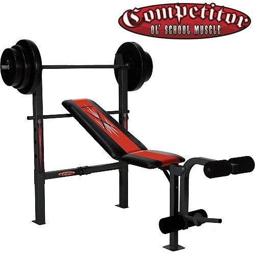 Weight Bench Competitor Ol School Muscle In Llanedeyrn