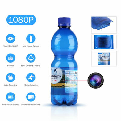 Hidden Spy Camera DVR HD 1080P Portable Real Drinking Water Bottle 8GB SD Card