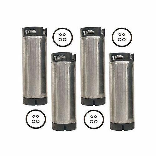 5 Gallon Ball Lock  Pressure Tested - Reconditioned Pepsi Soda Keg - Set of 4