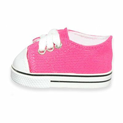 Doll Clothes Converse Sneakers Shoes Pink Butterfly Closet Fit American Girl 18