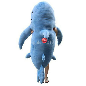 71-034-1-8M-GIANT-HUGE-SHARK-STUFFED-ANIMAL-PLUSH-SOFT-TOY-PILLOW-SOFA-BEAN-BAG
