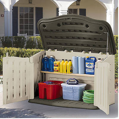Rubbermaid 135-Gallon Horizontal Storage Shed