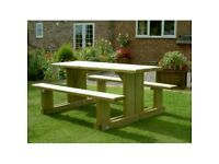 BESPOKE HANDMADE IN THE U.K. EXCELLENCE PICNIC TABLE