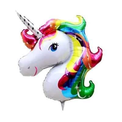 6 Globos cabeza de unicornio arcoiris decoracion fiesta medida 50 30 cm segunda mano  Embacar hacia Argentina