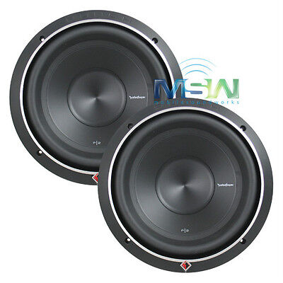 """(2) ROCKFORD FOSGATE® P2D4-10 PUNCH-SERIES 10"""" 600W CAR AUDIO SUBWOOFERS *PAIR* for sale  Shipping to India"""