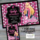 Birthday Barbie Greeting Invitations