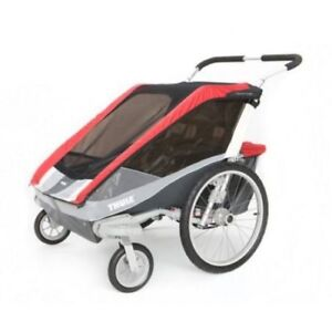 Cougar Chariot 2 Double stroller with bike and ski attachments