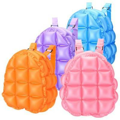 Inflatable Bubble Blow Up Backpack Retro Festive Bopping Girl Space Colorful Bag - Bubble Backpacks