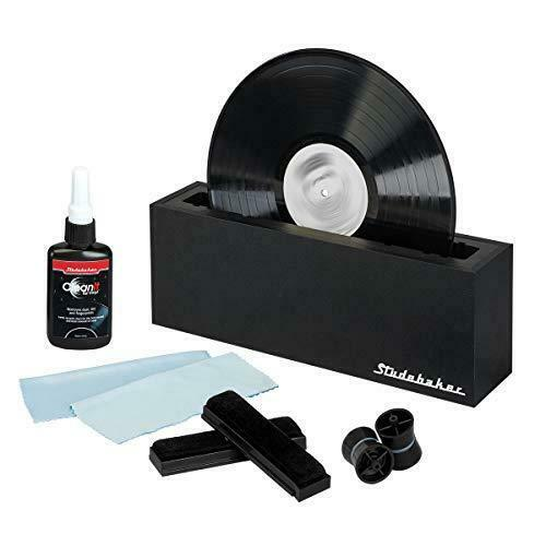 Studebaker Vinyl Record Cleaning System with Cleaning Solution and Soft Pads