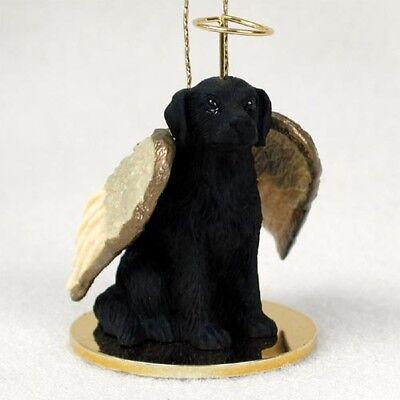 Flat-Coated Retriever ANGEL Tiny One Ornament Figurine Statue