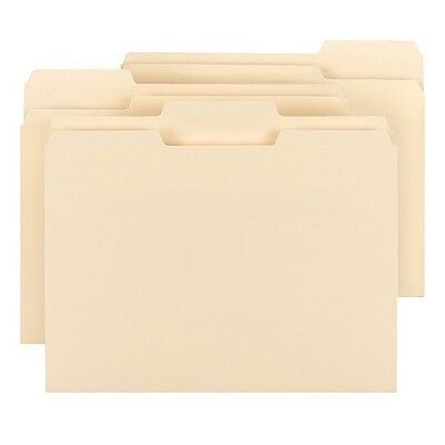 Smead 1/3 Cut Assorted Positions File Folders, Letter, Manila, 150ct.