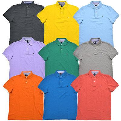 Tommy Hilfiger Polo Shirt Mens Custom Fit Mesh Knit Short Sleeve Casual New Nwt