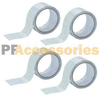 4 Rolls 26 Ft X 1.88 Aluminum Foil Heat Shield Tape Hvac Heating Ac Sealing Ad