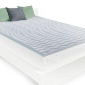 HoMedics 2 Inch Cool Wave Memory Foam Mattress Topper Twin Size