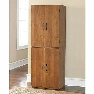 Storage Cabinet Kitchen Pantry Organizer Wood Furniture Bathroom Cupboard Shelf