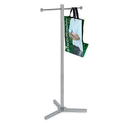 New Chrome Customer Shopping Bag Stand Rack Display