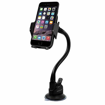 Macally Windshield Phone Mount, Adjustable Suction Cup Window Phone Mount Holder