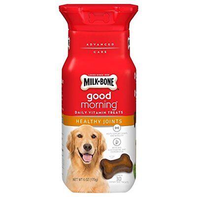 Milk-Bone Good Morning Daily Vitamin Dog Treats Healthy Joints 6-Ounce bottle