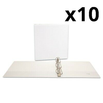 Slant-ring View Binder 3 Rings 1.5 Capacity 11 X 8.5 White Pack Of 10