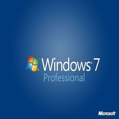 ORIGINAL WINDOWS 7 PRO 32 / 64BIT OEM GENUINE LICENSE KEY SCRAP PC