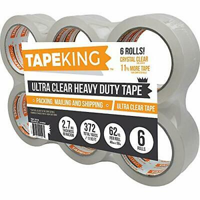 Tape King Crystal Clear Premium Packing Tape Refill 6 Rolls Ultra Clear New