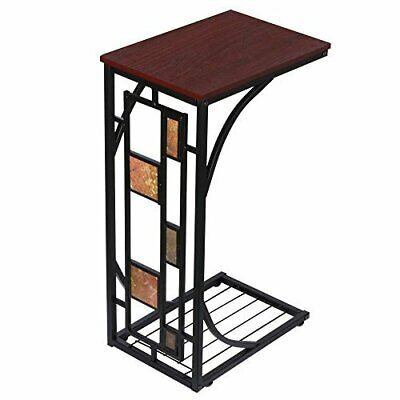 Small Side Table Metal Unit End Coffee Modern Bookcase Storage Stand Living...