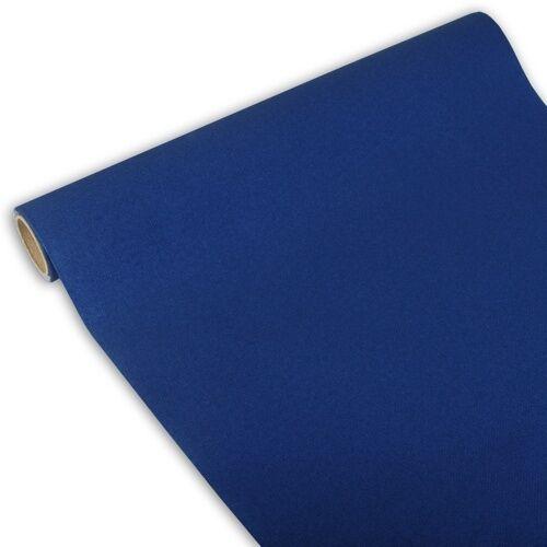 6 dunkelblaue Tischläufer Tissue ROYAL Collection 3 m x 40 cm auf Rolle
