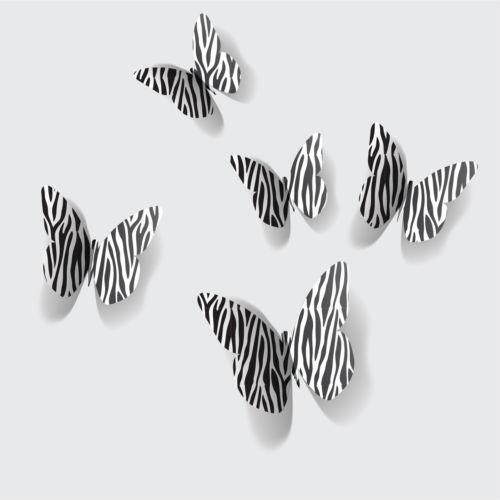 Butterfly wall decorations ebay for Diy room decor zebra