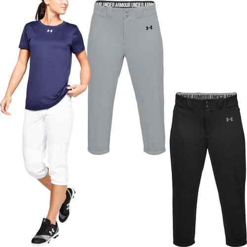 Under Armour UA Cropped Womens Fastpitch Softball Pants 1317043