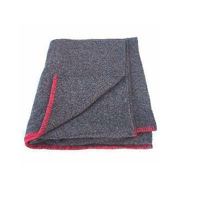New Brown Army Military Scout Wool Mix Blanket with red stitched edge