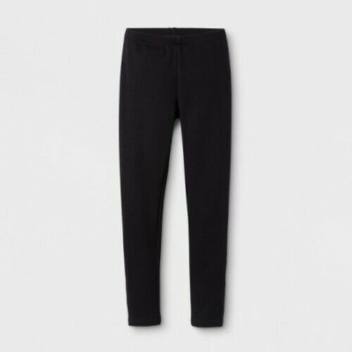 Cat & Jack Girls' Cozy Legging – Black L(10/12) Clothing, Shoes & Accessories