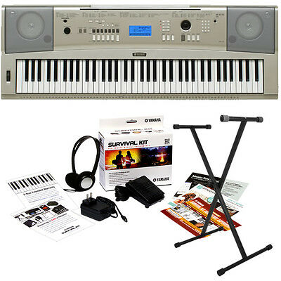 Yamaha YPG-235 Portable Grand Keyboard KEY ESSENTIALS BUNDLE