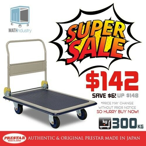 REDUCED PRICE! PRESTAR (Made in Japan) 300kg Heavy Duty Metal Platform Trolley