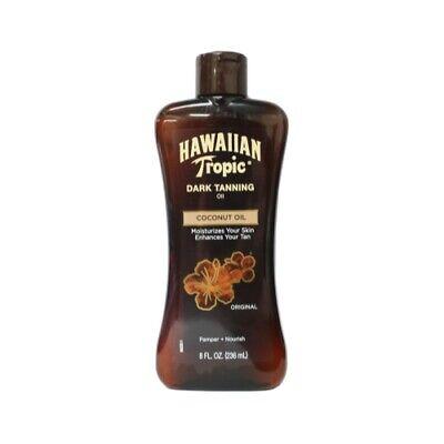 Hawaiian Tropic Dark Tanning Oil, Moisturizing, Nourishing, Original, 8 Oz