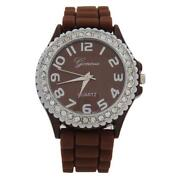 Womens Silicone Watches Brown