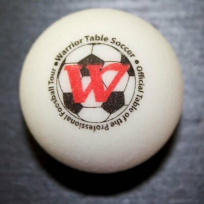 Set of 4 White Warrior Table Soccer Classic Pro Game Foosballs