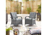 Nova Olivia Dining Chairs x 2 Grey