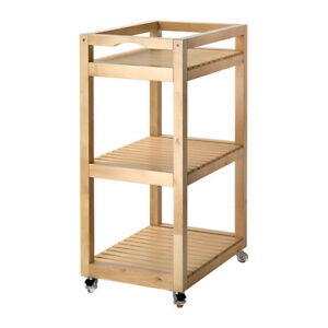 Wheeled cart Ikea MOLGER Cart, birch wheeled table